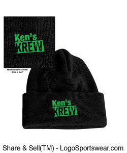Long Knit Beanie Design Zoom